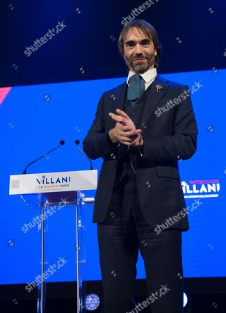 Editorial picture of Cedric Villani campaign meeting, Paris, France - 11 Dec 2019
