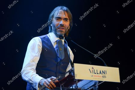 Stock Picture of Cedric Villani campaign meeting, at the Trianon in Paris. Villani is En Marche! candidate for the Paris City Hall at the next municipal elections in 2020.