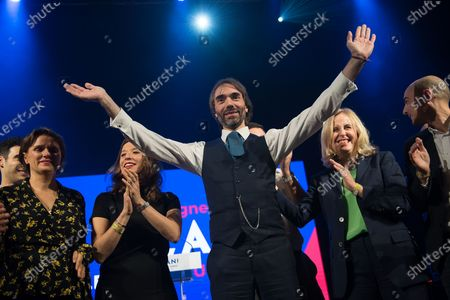 Editorial photo of Cedric Villani campaign meeting, Paris, France - 11 Dec 2019
