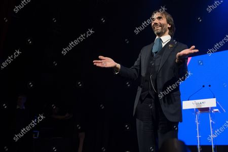Stock Photo of Cedric Villani campaign meeting, at the Trianon in Paris. Villani is En Marche! candidate for the Paris City Hall at the next municipal elections in 2020.