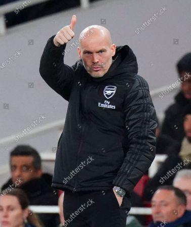 Interim Manager Freddie Ljungberg of Arsenal