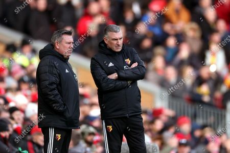 Watford manager Nigel Pearson and assistant Craig Shakespeare