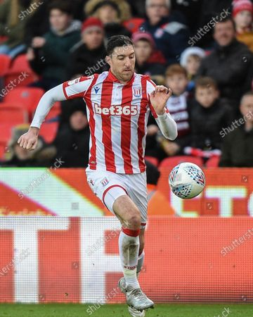 Stock Photo of 14th December 2019, Bet365 Stadium, Stoke-on-Trent, England; Sky Bet Championship, Stoke City v Reading : Stephen Ward (3) of Stoke City in action during the game