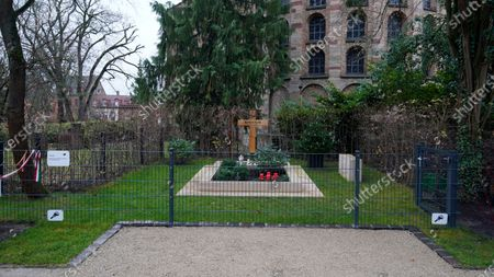 Editorial image of Grave of late former German chancellor Helmut Kohl in Speyer, Germany - 12 Dec 2019