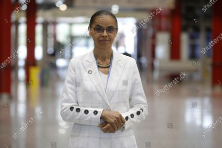 Brazilian former environment minister Marina Silva poses for a photograph during an interview at the COP25 UN Climate Change Conference in Madrid, Spain, 12 December 2019.