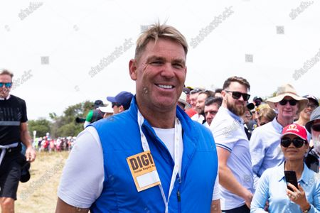 Shane Warne is seen during round 2 of The Presidents Cup