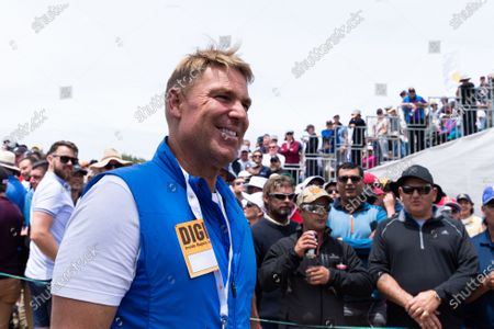 Australian Cricket star Shane Warne is seen during round 2 of The Presidents Cup