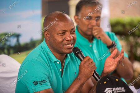 Stock Image of Former West Indies cricketer Brian Lara during a press conference