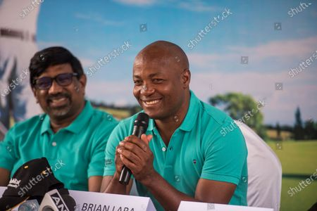 Stock Picture of Former West Indies cricketer Brian Lara during a press conference