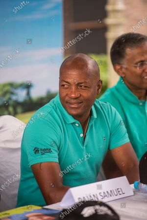 Stock Photo of Former West Indies cricketer Brian Lara during a press conference