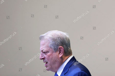 Former U.S. Vice President Al Gore gives a speech at the COP25 climate talks summit in Madrid, Spain, . The major countries at a U.N. meeting on climate change took the floor to stake out their positions, showing that deep differences remain to be breached