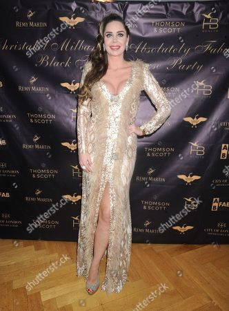 Editorial image of Christabel Milbanke's Absolutely Fabulous Black Tie Party, London, UK - 11 Dec 2019