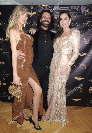 Editorial picture of Christabel Milbanke's Absolutely Fabulous Black Tie Party, London, UK - 11 Dec 2019