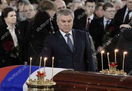 Editorial photo of Funeral of former Mayor of Moscow Yury Luzhkov, Mosow, Russia - 12 Dec 2019