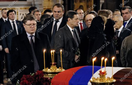 Editorial picture of Funeral of former Mayor of Moscow Yury Luzhkov, Mosow, Russia - 12 Dec 2019