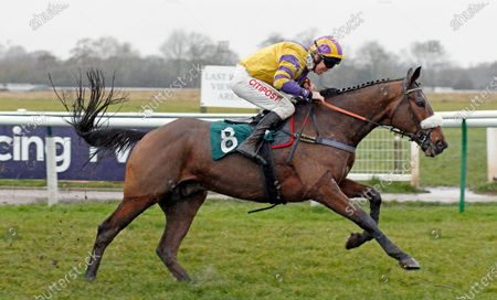 BOOK OF GOLD (Leighton Aspell) wins The Tom Gaughan Memorial Handicap Chase Warwick