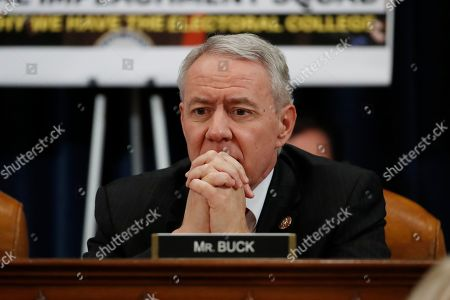 Rep. Ken Buck, R-Colo., listens during a House Judiciary Committee markup of the articles of impeachment against President Donald Trump, on Capitol, in Washington