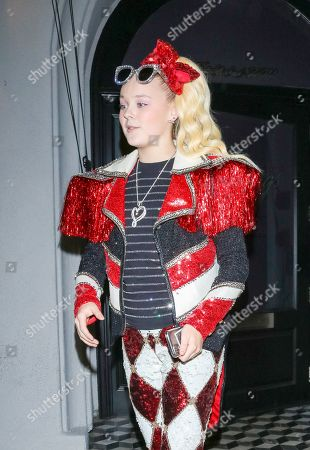 Editorial image of JoJo Siwa out and about, Los Angeles, USA - 11 Dec 2019