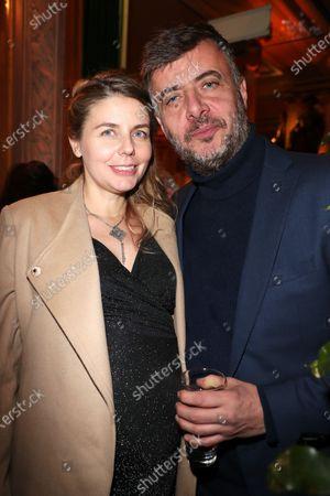 Olivia Mokiejewski and her boyfriend (Ex Canal plus Journalist)