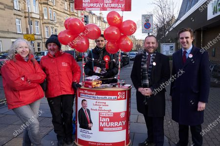 Morningside South Labour MP, Ian Murray and his team campaigning on Election day in Morningside.