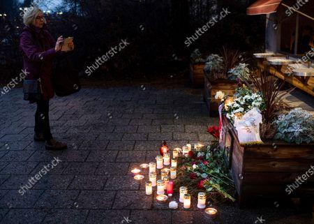 Editorial image of Makeshift memorial for Marie Fredriksson in Stockholm, Sweden - 12 Dec 2019
