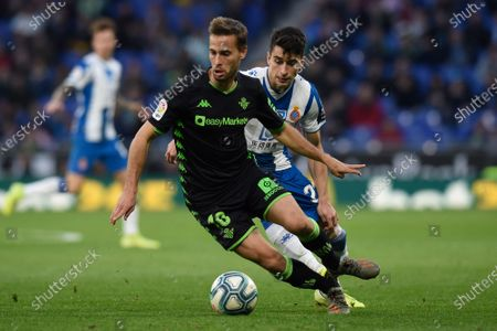 Stock Picture of Sergio Canales of Real Betis and Marc Roca of RCD Espanyol