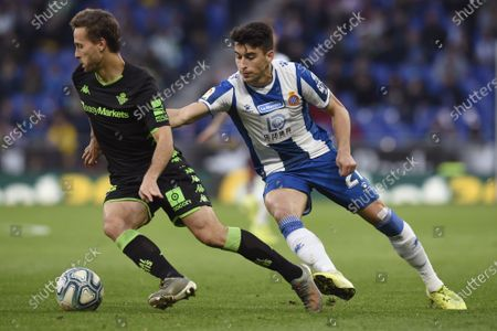 Sergio Canales of Real Betis and Marc Roca of RCD Espanyol
