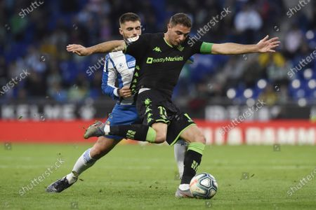 Stock Picture of Joaquín Sanchez of Real Betis and David Lopez of RCD Espanyol
