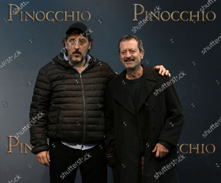 Stock Picture of Massimo Ceccherini and Rocco Papaleo