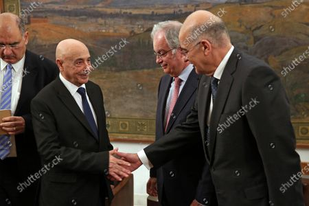 Editorial image of Libya parliament president Saleh Eissa in Athens, Greece - 12 Dec 2019