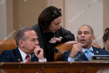 Amy Rutkin, David Cicilline, Hakeem Jeffries. Amy Rutkin, center, chief of staff for House Judiciary Committee Chairman Jerrold Nadler, D-N.Y., talks with Rep. David Cicilline, D-R.I., left, and Rep. Hakeem Jeffries, D-N.Y., as the panel marks up articles of impeachment against President Donald Trump, on Capitol Hill in Washington