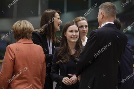 Angela Merkel, Sophie Wilmes, Sanna Marin and Mette Frederiksen