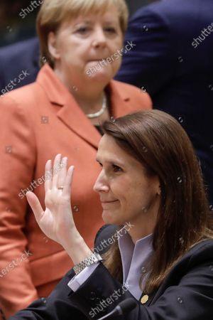 Angela Merkel and Sophie Wilmes