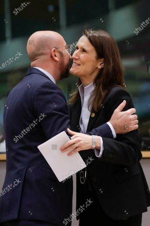 Charles Michel and Sophie Wilmes