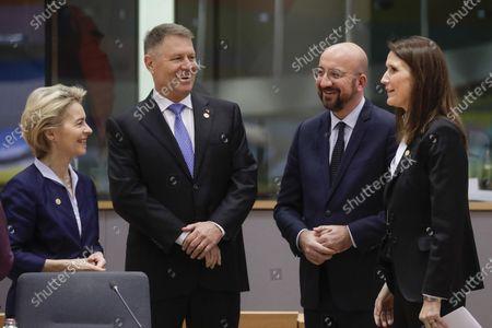 Ursula von der Leyen, Charles Michel and Sophie Wilmes