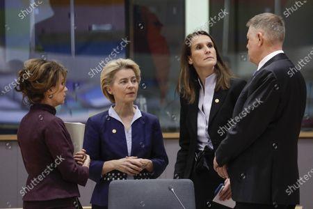 Brigitte Bierlein, Ursula von der Leyen and Sophie Wilmes