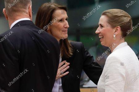 Sophie Wilmes and Mette Frederiksen