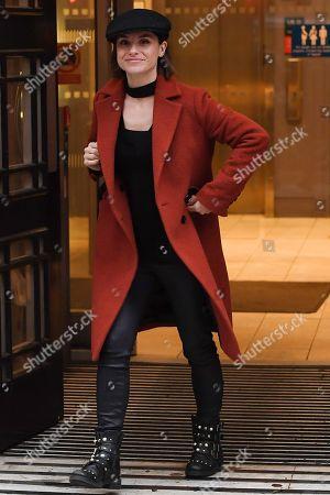 Editorial image of Charlotte Riley at BBC Radio 2 Studios, London, UK - 12 Dec 2019
