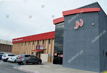 """Jackson Wink MMA Academy is shown, in Albuquerque, New Mexico. The storied mixed martial arts gym, that has trained UFC Light Heavyweight Champion Jon """"Bones"""" Jones and other notable fighters, announced Wednesday it will offer naming rights to its facility"""