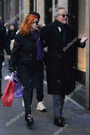 Editorial photo of Giuliano Adreani and Cicci Adreani out and about, Milan, Italy - 12 Dec 2019