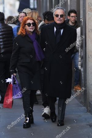 Editorial picture of Giuliano Adreani and Cicci Adreani out and about, Milan, Italy - 12 Dec 2019