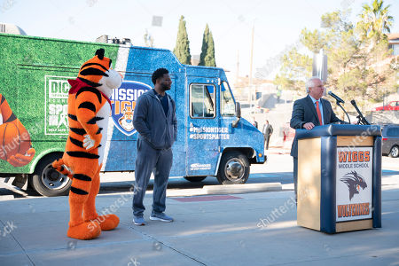 Editorial photo of Frosted Flakes Mission Tiger Event, El Paso, USA - 12 Dec 2019