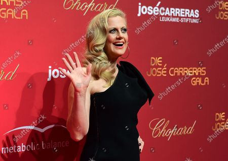 German moderator Barbara Schoeneberger arrives for the Jose Carreras Gala Christmas concert in Leipzig, Germany, 12 December 2019. The 25th Jose Carreras Gala is one of the most successful charity events in German television and raises funds for the Spanish tenor's leukemia foundation.