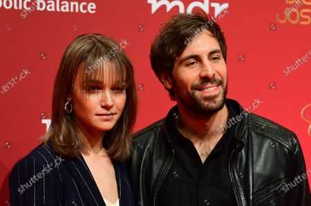 Stock Picture of German musicians Lotte (L) and Max Giesinger arrive for the Jose Carreras Gala Christmas concert in Leipzig, Germany, 12 December 2019. The 25th Jose Carreras Gala is one of the most successful charity events in German television and raises funds for the Spanish tenor's leukemia foundation.