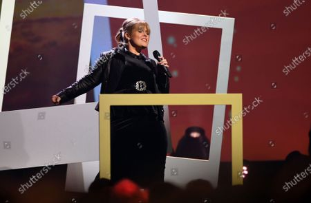 Stock Picture of Musical artist Maite Kelly performs on stage during the Jose Carreras Gala Christmas concert in Leipzig, Germany, 12 December 2019. The 25th Jose Carreras Gala is one of the most successful charity events in German television and raises funds for the Spanish tenor's leukemia foundation.