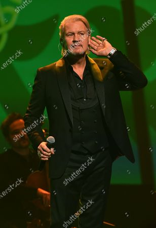 Johnny Logan performs on stage during the Jose Carreras Gala Christmas concert in Leipzig, Germany, 12 December 2019. The 25th Jose Carreras Gala is one of the most successful charity events in German television and raises funds for the Spanish tenor's leukemia foundation.
