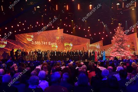 Stock Photo of General view of the closing part of the Jose Carreras Gala Christmas concert in Leipzig, Germany, 12 December 2019. The 25th Jose Carreras Gala is one of the most successful charity events in German television and raises funds for the Spanish tenor's leukemia foundation.