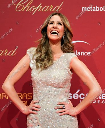 German television presenter Mareile Hoeppner arrives for the Jose Carreras Gala Christmas concert in Leipzig, Germany, 12 December 2019. The 25th Jose Carreras Gala is one of the most successful charity events in German television and raises funds for the Spanish tenor's leukemia foundation.