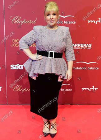 Musical artist Maite Kelly arrives for the Jose Carreras Gala Christmas concert in Leipzig, Germany, 12 December 2019. The 25th Jose Carreras Gala is one of the most successful charity events in German television and raises funds for the Spanish tenor's leukemia foundation.