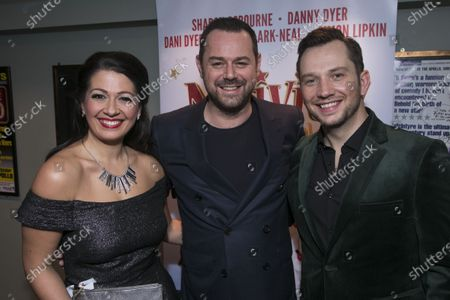Stock Photo of Ashleigh Gray (Jennifer Lore), Danny Dyer (The Hollywood Producer) and Scott Garnham (Mr Maddens)